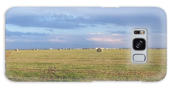 Haybales With Violet Sky Galaxy Case
