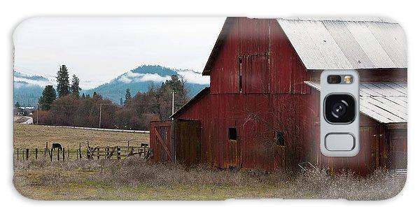 Hayfork Red Barn Galaxy Case by Lorraine Devon Wilke
