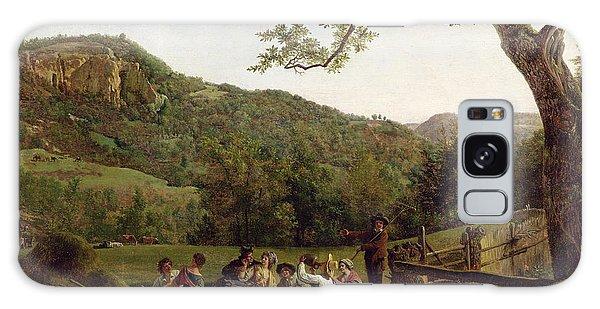 Hills Galaxy Case - Haymakers Picnicking In A Field by Jean Louis De Marne