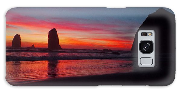 Haystack Rock At Sunset 2 Galaxy Case