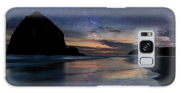 Haystack Rock Under Starry Night Sky Galaxy Case