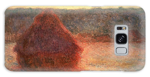 Field Galaxy Case - Haystacks At Sunset by Claude Monet
