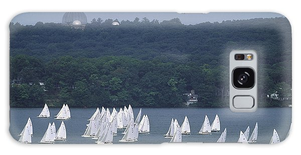 Hazy Day Regatta - Lake Geneva Wisconsin Galaxy Case
