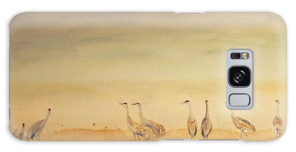 Hazy Days Cranes Galaxy Case