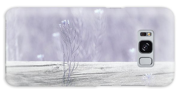 Galaxy Case featuring the photograph Hazy Lavender Wildflowers by Jennie Marie Schell