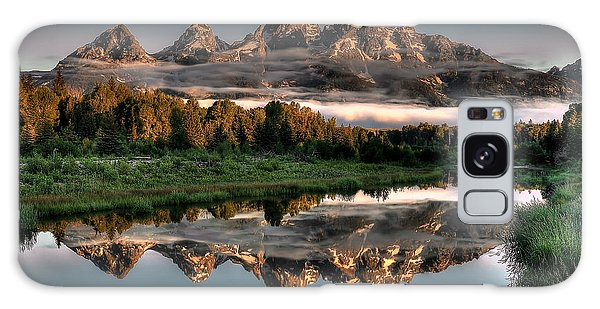 Teton Galaxy Case - Hazy Reflections At Scwabacher Landing by Ryan Smith