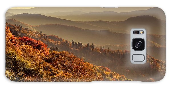 Hazy Sunny Layers In The Smoky Mountains Galaxy Case