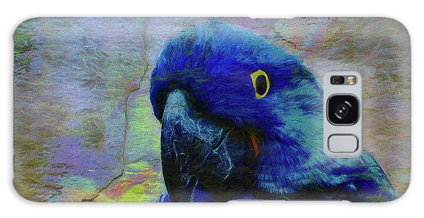 Macaw Galaxy Case - He Just Cracks Me Up by Jan Amiss Photography