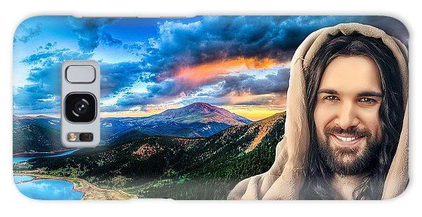 He Watches Over Me Galaxy Case by Karen Showell