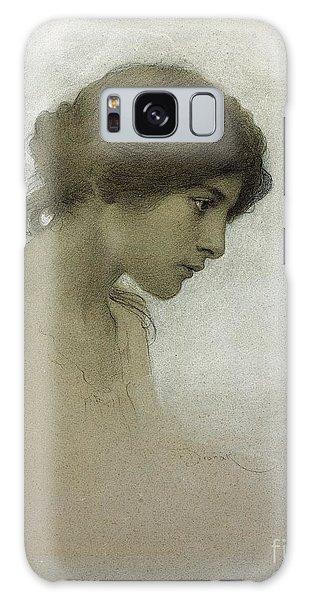 Female Galaxy Case - Head Of A Girl  by Franz Dvorak