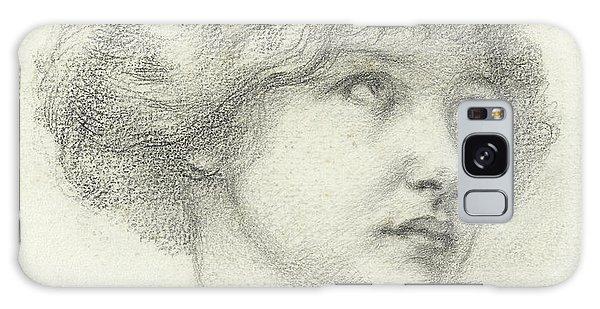 Beautiful Girl Galaxy Case - Head Of A Girl  by Walter John Knewstub