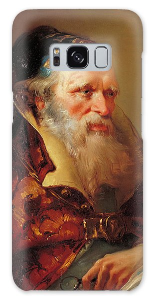 Philosopher Galaxy Case - Head Of A Philosopher by Giovanni Domenico Tiepolo