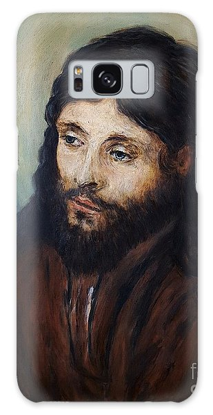 Head Of Christ After Rembrandt Galaxy Case