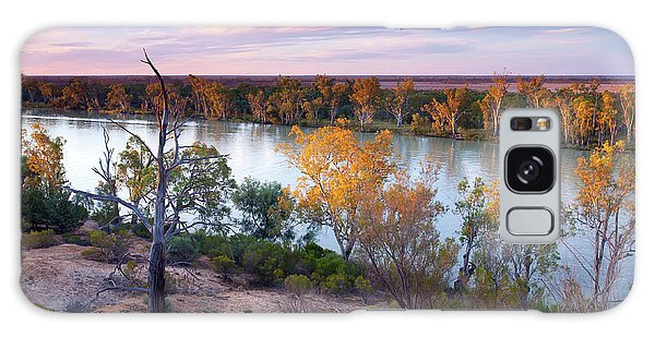 Heading Cliffs Murray River South Australia Galaxy Case