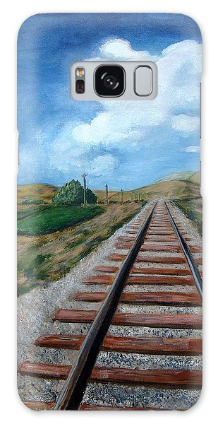 Heading West Galaxy Case by Laurie Morgan