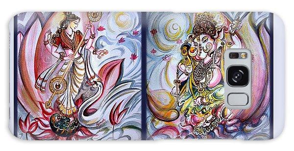 Healing Art - Musical Ganesha And Saraswati Galaxy Case