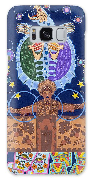 Galaxy Case featuring the painting Healing - Nanatawihowin by Chholing Taha