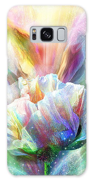 Galaxy Case featuring the mixed media Healing Poppy With Butterflies by Carol Cavalaris
