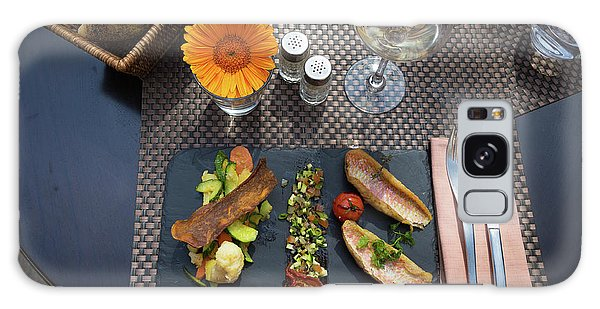 Health Fish Dish Served At A French Restaurant Galaxy Case by Semmick Photo
