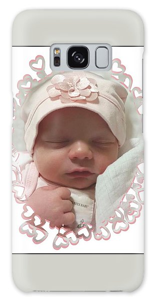 Heart Border On Newborn Girl Galaxy Case