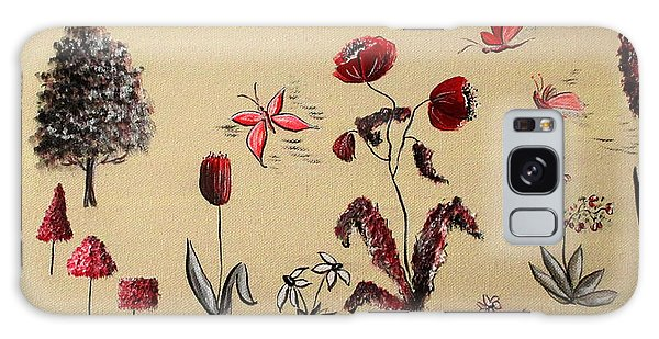 Galaxy Case - Heart Cottage Red 3 by Kathy Spall