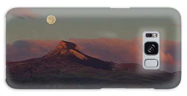 Heart Mountain And Full Moon-signed-#0273  #0273 Galaxy Case