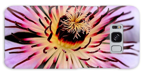 Heart Of A Clematis Galaxy Case by Stephen Melia