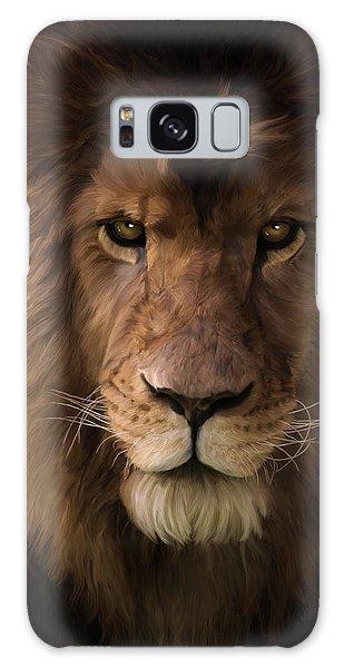 Heart Of A Lion - Wildlife Art Galaxy Case