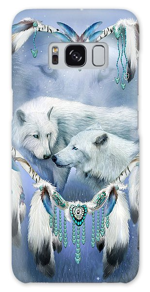 Galaxy Case featuring the mixed media Heart Of A Wolf 3 by Carol Cavalaris