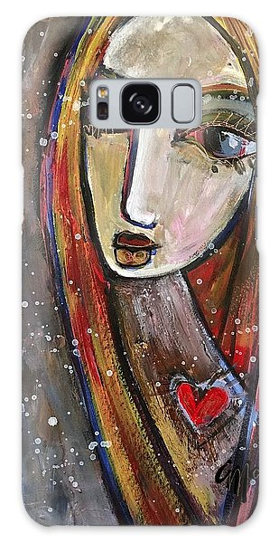 Galaxy Case featuring the painting Heart Of Gold by Laurie Maves ART