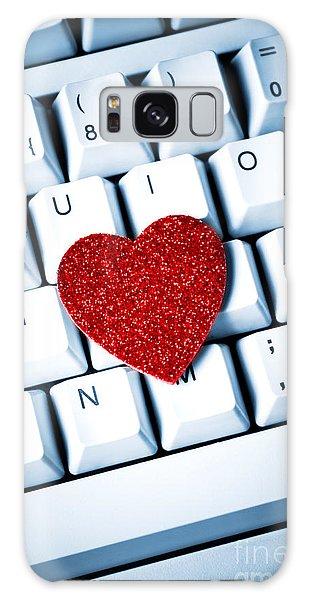 Heart On Keyboard Galaxy Case