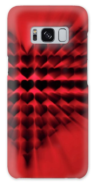 Heart Rays Galaxy Case