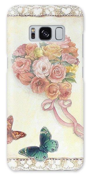 Heart Shape Bouquet With Butterfly Galaxy Case