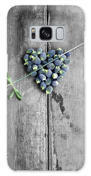 Heart Shaped Blue Thistle Buds With Arrow Stem Galaxy Case