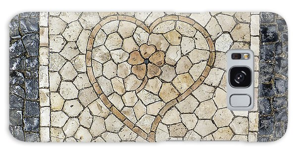 Heart Shaped Traditional Portuguese Pavement Galaxy Case
