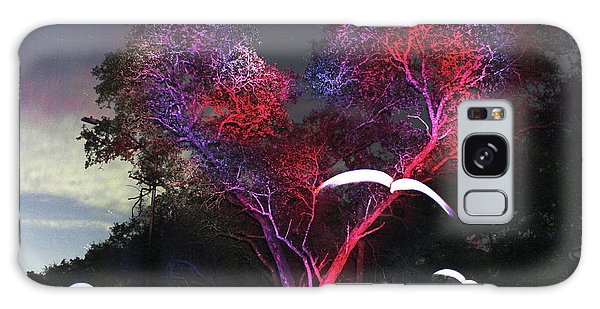 Heart Tree And Birds Galaxy Case