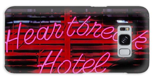 Heartache Galaxy Case - Heartbreak Hotel Neon by Garry Gay