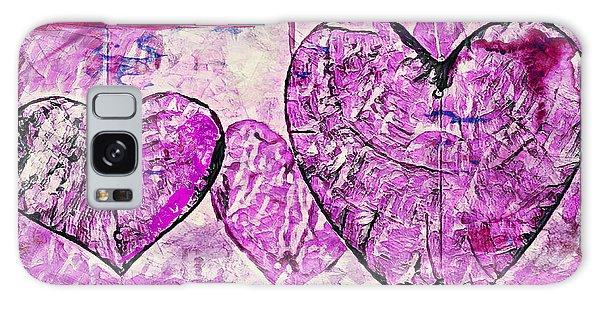 Hearts Abstract Galaxy Case