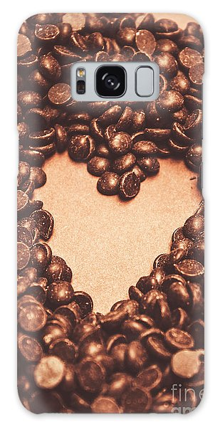 Decorative Galaxy Case - Hearts And Chocolate Drops. Valentines Background by Jorgo Photography - Wall Art Gallery