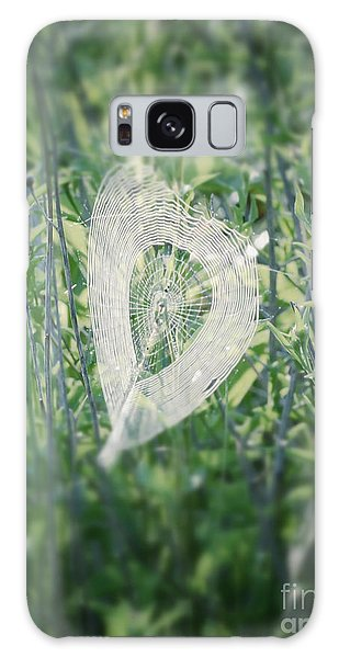 Hearts In Nature - Heart Shaped Web Galaxy Case