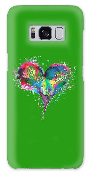 Hearts 6 T-shirt Galaxy Case by Herb Strobino