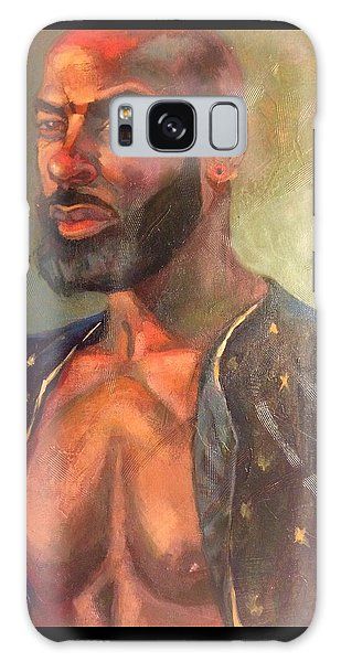Galaxy Case featuring the painting Heat Merchant by JaeMe Bereal