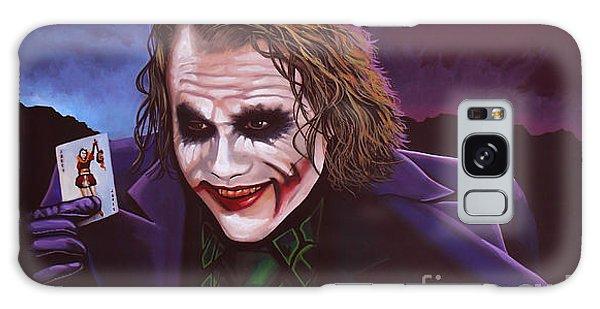 Realistic Galaxy Case - Heath Ledger As The Joker Painting by Paul Meijering