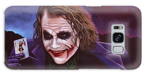 Heath Ledger As The Joker Painting Galaxy Case by Paul Meijering