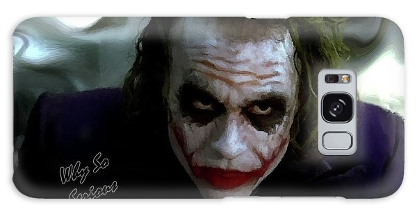 Heath Ledger Joker Why So Serious Galaxy Case