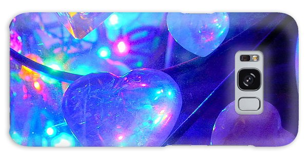 Heavenly Hearts Galaxy Case by Marlene Rose Besso