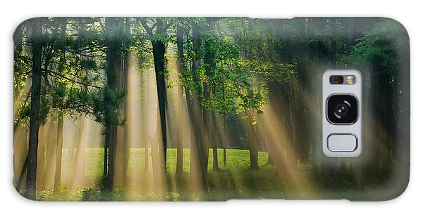 Galaxy Case featuring the photograph Heavenly Light Sunrise by Christina Rollo
