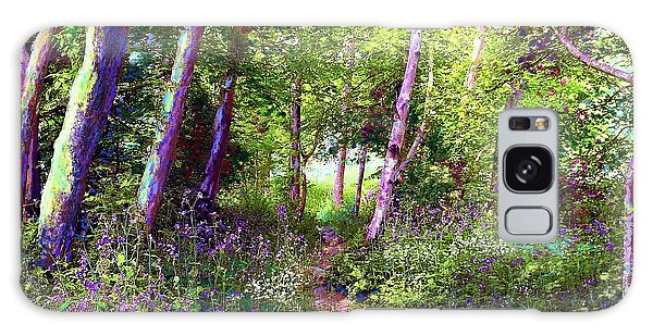 Heavenly Walk Among Birch And Aspen Galaxy Case by Jane Small
