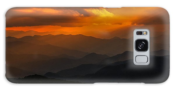 Heaven's Light On The Blue Ridge Parkway Galaxy Case