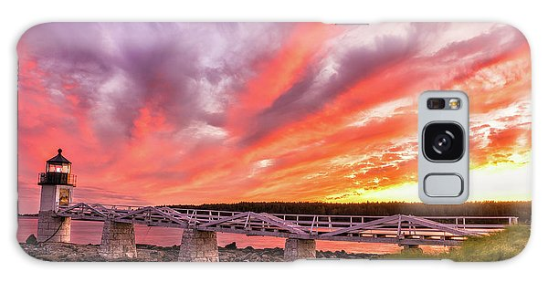 Galaxy Case featuring the photograph Heavens On Fire - Port Clyde by Expressive Landscapes Fine Art Photography by Thom